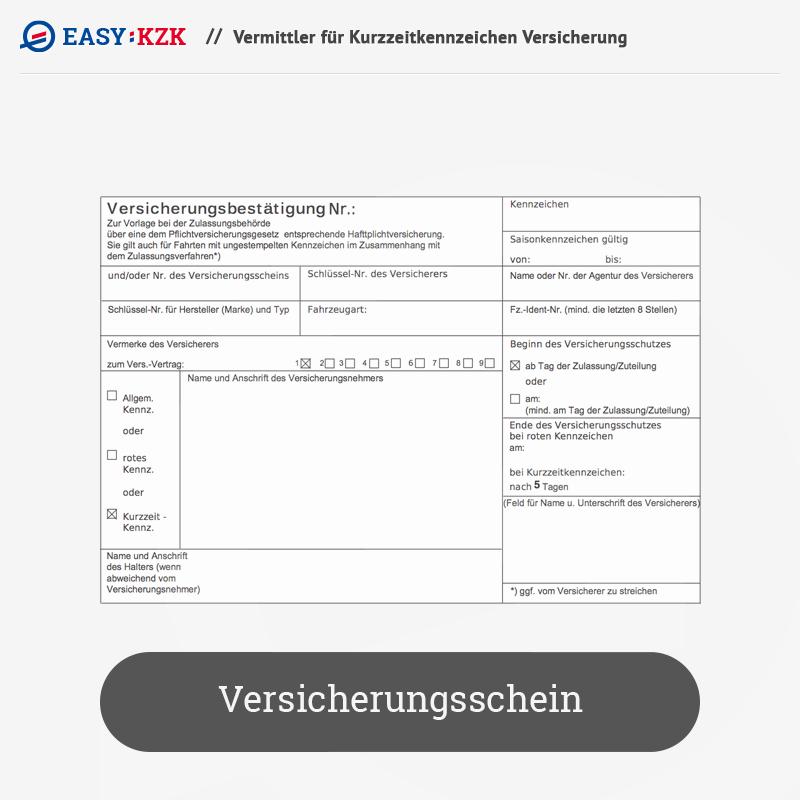 kurzzeitkennzeichen versicherung evb nummer f r ein pkw deutschlands ebay. Black Bedroom Furniture Sets. Home Design Ideas
